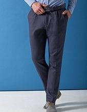 Business Hose in blau von bugatti
