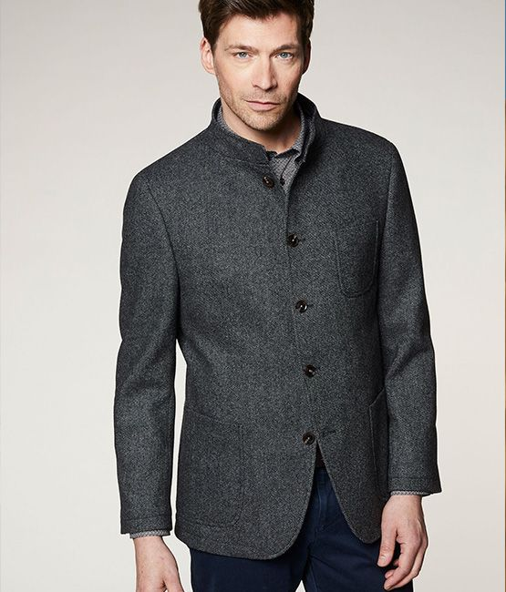 bugatti Autumn Fashion - Suit jacket with stand-up collar