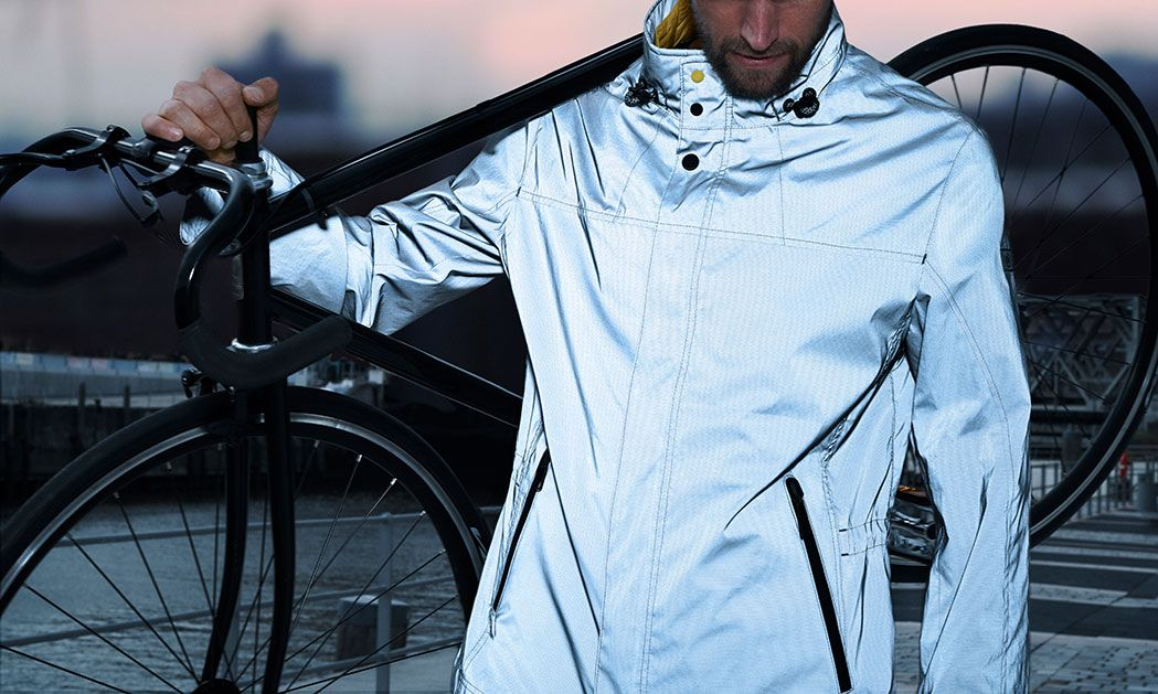 Attract attention in your reflective Be Visible jacket